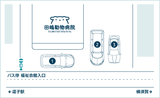 Tajima Veterinary Clinic Parking Map