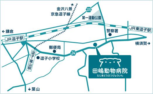 Tajima Veterinary Clinicの近隣図